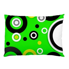 Florescent Green Yellow Abstract  Pillow Cases (Two Sides)