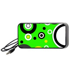 Florescent Green Yellow Abstract  Portable Speaker (black)