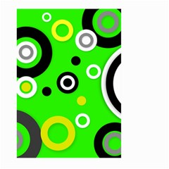 Florescent Green Yellow Abstract  Large Garden Flag (Two Sides)