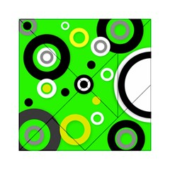 Florescent Green Yellow Abstract  Acrylic Tangram Puzzle (6  x 6 )