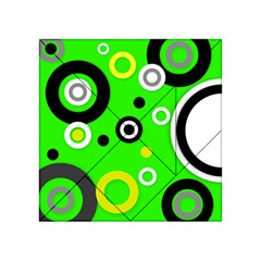 Florescent Green Yellow Abstract  Acrylic Tangram Puzzle (4  x 4 )