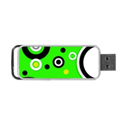 Florescent Green Yellow Abstract  Portable USB Flash (Two Sides)