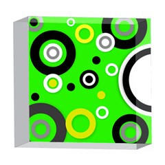 Florescent Green Yellow Abstract  5  x 5  Acrylic Photo Blocks