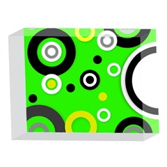 Florescent Green Yellow Abstract  5 x 7  Acrylic Photo Blocks