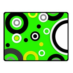 Florescent Green Yellow Abstract  Double Sided Fleece Blanket (small)