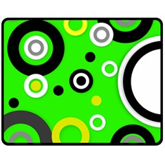 Florescent Green Yellow Abstract  Double Sided Fleece Blanket (Medium)