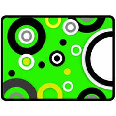 Florescent Green Yellow Abstract  Double Sided Fleece Blanket (large)
