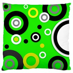 Florescent Green Yellow Abstract  Large Flano Cushion Cases (two Sides)