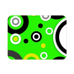 Florescent Green Yellow Abstract  Double Sided Flano Blanket (Mini)