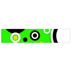 Florescent Green Yellow Abstract  Flano Scarf (small)