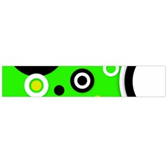 Florescent Green Yellow Abstract  Flano Scarf (Large)
