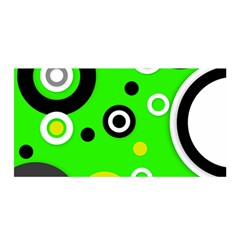 Florescent Green Yellow Abstract  Satin Wrap
