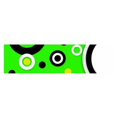 Florescent Green Yellow Abstract  Satin Scarf (Oblong)