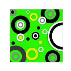 Florescent Green Yellow Abstract  Small Satin Scarf (Square)
