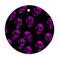 Purple Skulls  Ornament (round)