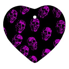 Purple Skulls  Ornament (heart)