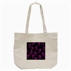 Purple Skulls  Tote Bag (Cream)