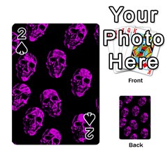 Purple Skulls  Playing Cards 54 Designs