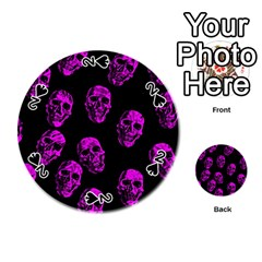 Purple Skulls  Playing Cards 54 (round)