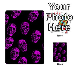 Purple Skulls  Multi-purpose Cards (Rectangle)