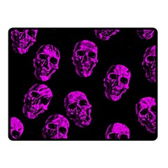 Purple Skulls  Fleece Blanket (small)