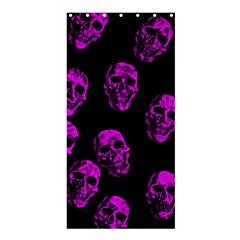 Purple Skulls  Shower Curtain 36  x 72  (Stall)