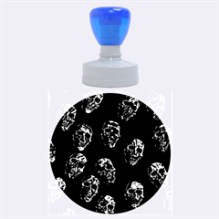 Purple Skulls  Rubber Round Stamps (large)