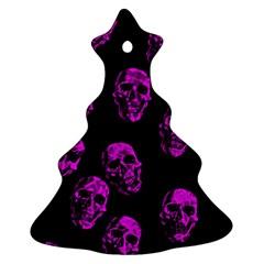 Purple Skulls  Ornament (christmas Tree)