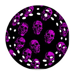 Purple Skulls  Round Filigree Ornament (2Side)