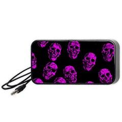 Purple Skulls  Portable Speaker (Black)