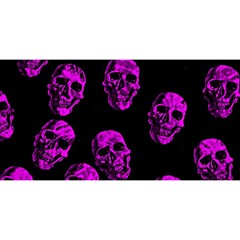 Purple Skulls  You Are Invited 3d Greeting Card (8x4)