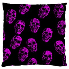 Purple Skulls  Standard Flano Cushion Cases (One Side)