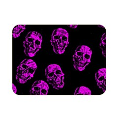 Purple Skulls  Double Sided Flano Blanket (mini)