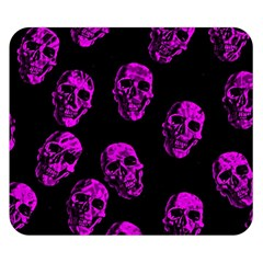 Purple Skulls  Double Sided Flano Blanket (Small)