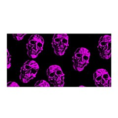Purple Skulls  Satin Wrap