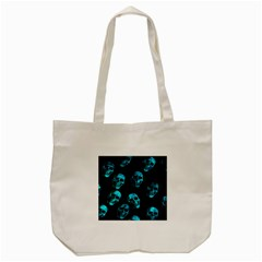 Skulls Blue Tote Bag (Cream)