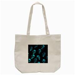 Skulls Blue Tote Bag (cream)