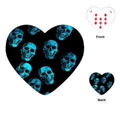 Skulls Blue Playing Cards (Heart)