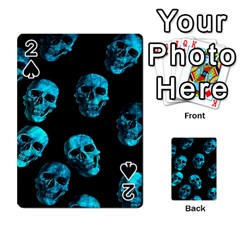 Skulls Blue Playing Cards 54 Designs