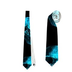 Skulls Blue Neckties (One Side)