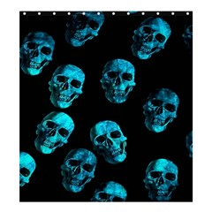 Skulls Blue Shower Curtain 66  X 72  (large)