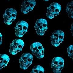 Skulls Blue Magic Photo Cubes