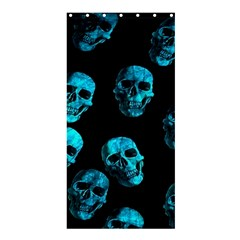 Skulls Blue Shower Curtain 36  x 72  (Stall)