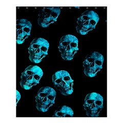 Skulls Blue Shower Curtain 60  x 72  (Medium)