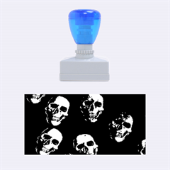 Skulls Blue Rubber Stamps (medium)