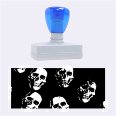 Skulls Blue Rubber Stamps (large)