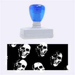 Skulls Blue Rubber Stamps (Large)