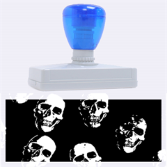 Skulls Blue Rubber Address Stamps (XL)