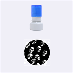 Skulls Blue Rubber Round Stamps (Small)
