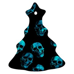 Skulls Blue Ornament (Christmas Tree)